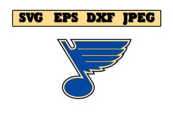 St louis blues SVG File - Vector Design in, Svg, Eps, Dxf, and Jpeg Format for Cricut and Silhouette, Digital download !!!!!!!!!!!!!!!!!!