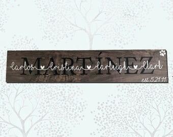 Custom Family Tile, personalized last name tile, wedding gift, bridal shower, family name, last name sign