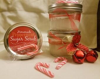 Hand made Peppermint Sugar Scrub