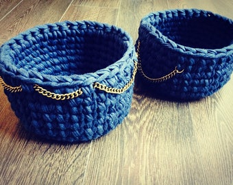 Crochet baskets set