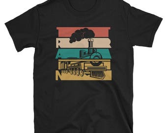 Train T Shirt Vintage Train Tee For Train Lovers Gift Tee