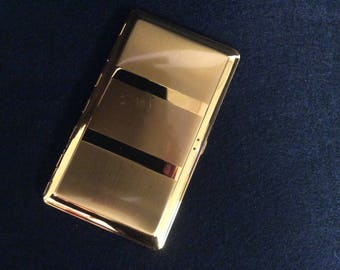 1950's Goldtone Cigarette Case E-112