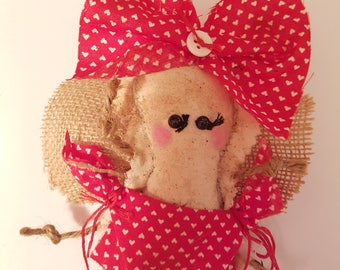 """Grungy Cupid """"Cupid Claudia"""" - A Rag Doll made with love Valentine"""