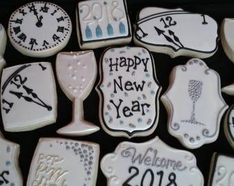 New Year Celebration Cookies - 1 Dozen