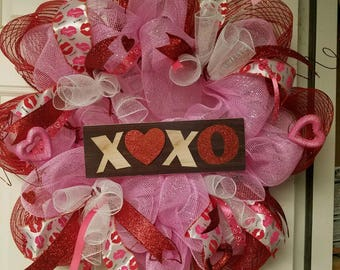 Valentine's Day Wreath - Ready to ship