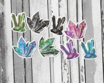 Cosmic Crystal Die-Cuts / Die Cuts Pagan, Witch, Wicca, Hoodoo, Trad, Magick, Occult, Grimoire, Book of Shadows / (CC-DC)