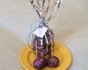 Chocolate dipped sandwich cookies, Amazingly Delicious! Dancing Bear Chocolate