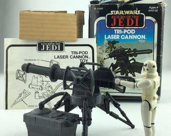 1982 Star Wars Return Of The Jedi Tri-Pod Laser Cannon Complete With Stormtrooper Figure