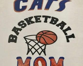 Custom Glitter Basketball Tshirt for Moms