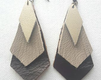 Genuine Leather layered Earrings