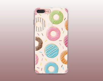 Donut Clear TPU Phone Case for iPhone 8- iPhone 8 Plus - iPhone X - iPhone 7 Plus-iPhone 7-iPhone 6-iPhone 6S-Samsung S8