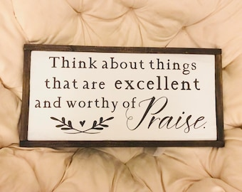 Worthy of Praise | Inspirational Wood Signs (3 sizes)