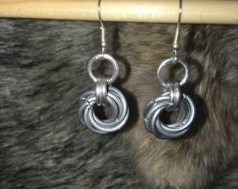 Mobius Flower Earrings - Galvanized Steel