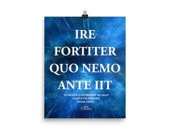 Star Trek Quote Poster