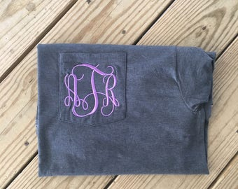 Monogram Pocket Tee Personalized