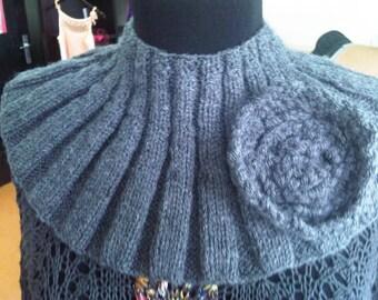Fashion necklace, collar, knit, crochet, cowl for women, fun, gift, soft, warm winter