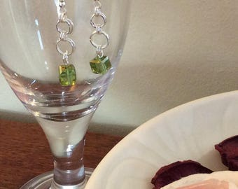 Handmade bead and wire earrings