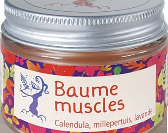 Muscle balm, relaxing and calming