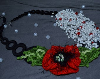 """Necklace """"Red Poppy"""""""