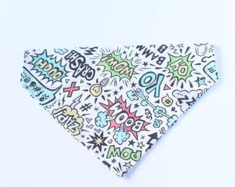 Over the Collar Bandana - Marvel Dog Bandana - Gift for a Dog Lover - Modern Dog Bandana - Dog Fashion