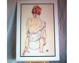 Egon Schiele - Female Seated