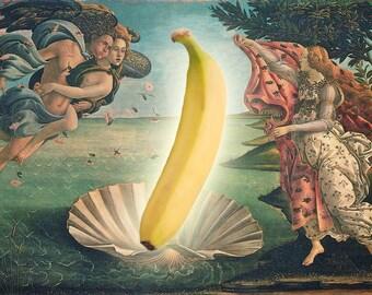 The Birth of Banana / Collage / Art Print