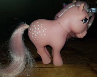 Vintage 1980s G1 My Little Pony Cotton Candy, 1982