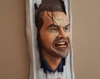 The Shining Jack Nicholson 1/1 life size wall hanging bust film prop Stephen King