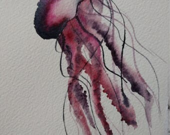 Jellyfish Print wall hanging (2 styles)