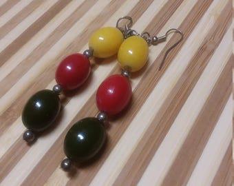 Yellow, Red, Green Pride Earrings