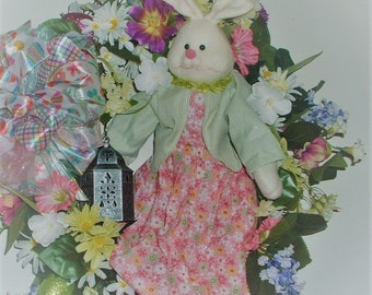 Easter Whimsical Bunny Looking for the Enchanted Garden