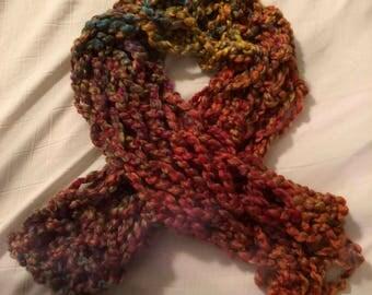Arm Knit Scarf Rainbow