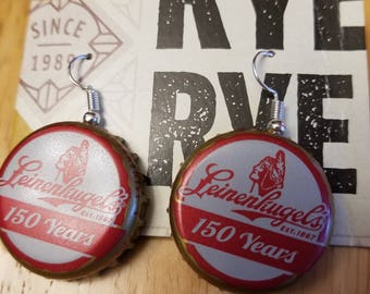 Leinenkugel Brewery Bottle Cap Earrings