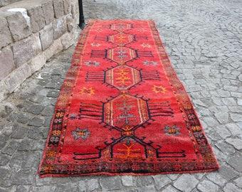 Δωρεάν αποστολή Very Rare Anatolian Vintage Rug 4.4 13.0 ft. Free Shipping  runner rug turkish boho decor rug floor rug handmade rug MB176