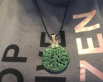 Old Hetian (Hotan)  Chinese Jade Pendant