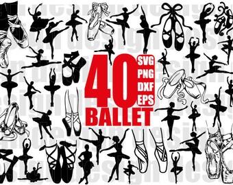 BALLET SVG, ballerina svg, ballet shoes svg, ballerina shoe svg, dancer svg, classic dance svg, dance svg, cricut, silhouette cut files