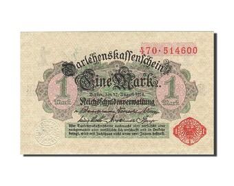 germany 1 mark 1914 km51 1914-08-12 unc(63)