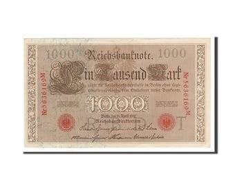germany 1000 mark 1910 km #44b 1910-04-21 unc(63) 56361969m