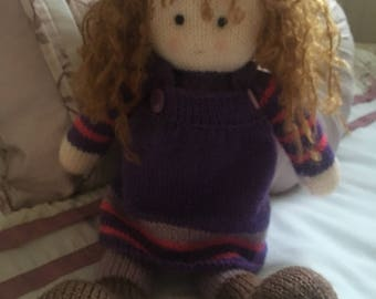 Knitted doll 12 inch