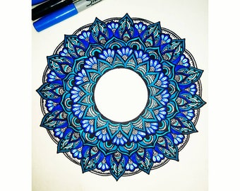 Hand drawn Mandala Peice