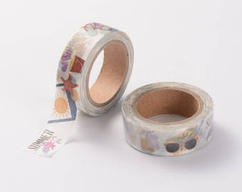 Summer Washi Tape - 15mm x 10 Meters - #SW123