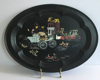 Shabby Vintage Toleware Tray