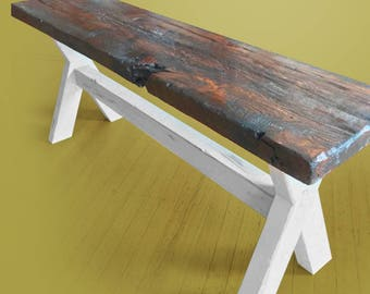 Reclaimed Antique Oak Entry way Bench