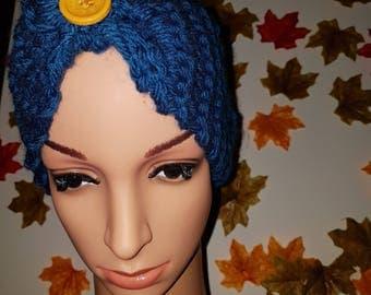 Blue headscarf/earwarmer