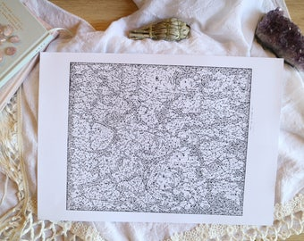 The Human Condition - Abstract Pen Art Drawing Illustration Print or Canvas