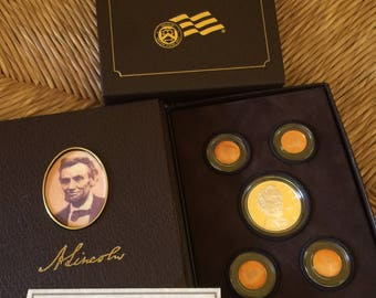 Lincoln Coin and Chronicle Set