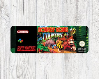 SNES label: Donkey Kong Country [FAH]