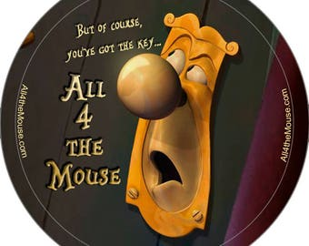 All 4 the Mouse Alice in Wonderland Buttons