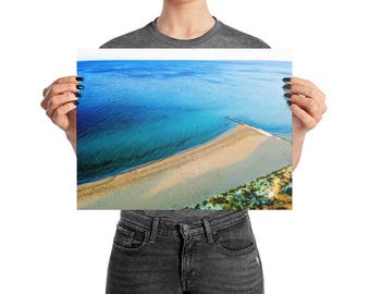 Ocean Photo | Premium Luster Photo Paper Poster | Ocean Wall Art | Coastal Decor | Large Poster | Beach Print | Busselton Beach Photo