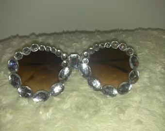 Bling black sunglasses, custom going sunglasses, Rhinestone sunglasses